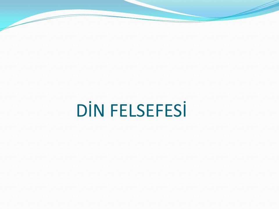 DİN FELSEFESİ