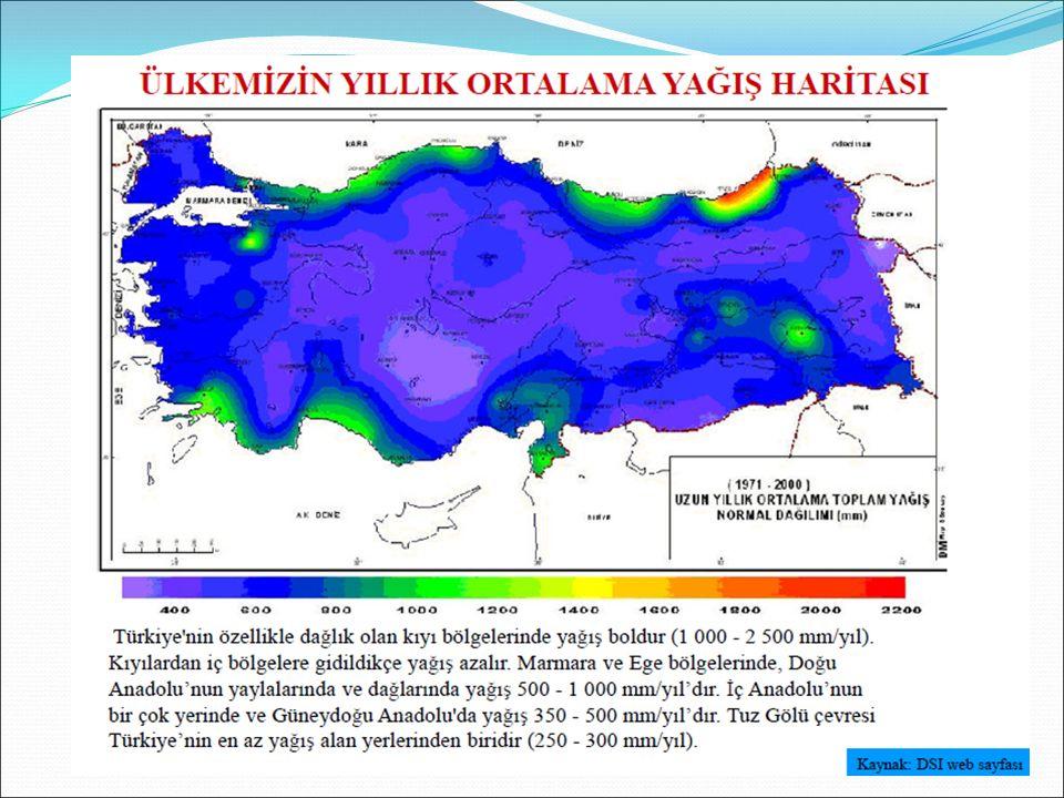 a.Aritmetik Ortalama Yöntemi: -Bu yöntemde, bölge içindeki tüm istasyonların değerlerinin ortalaması alınarak bölgenin ortalama yağış yüksekliği bulunur.