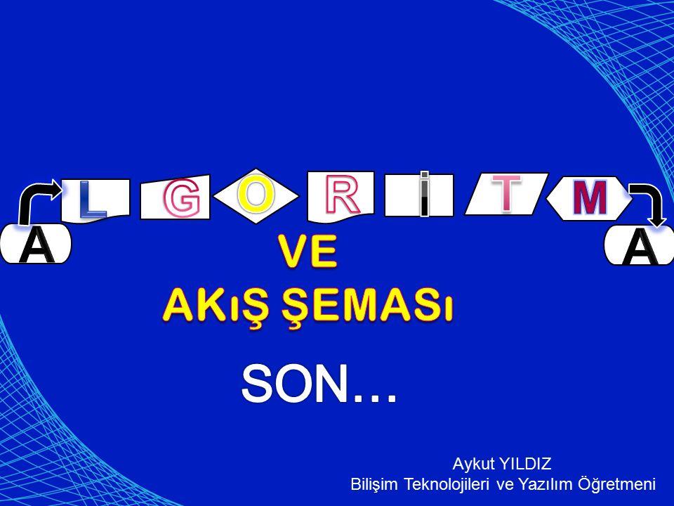 Aykut YILDIZ Bilişim Teknolojileri ve Yazılım Öğretmeni