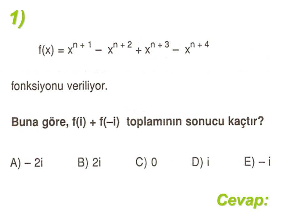 1)Cevap: