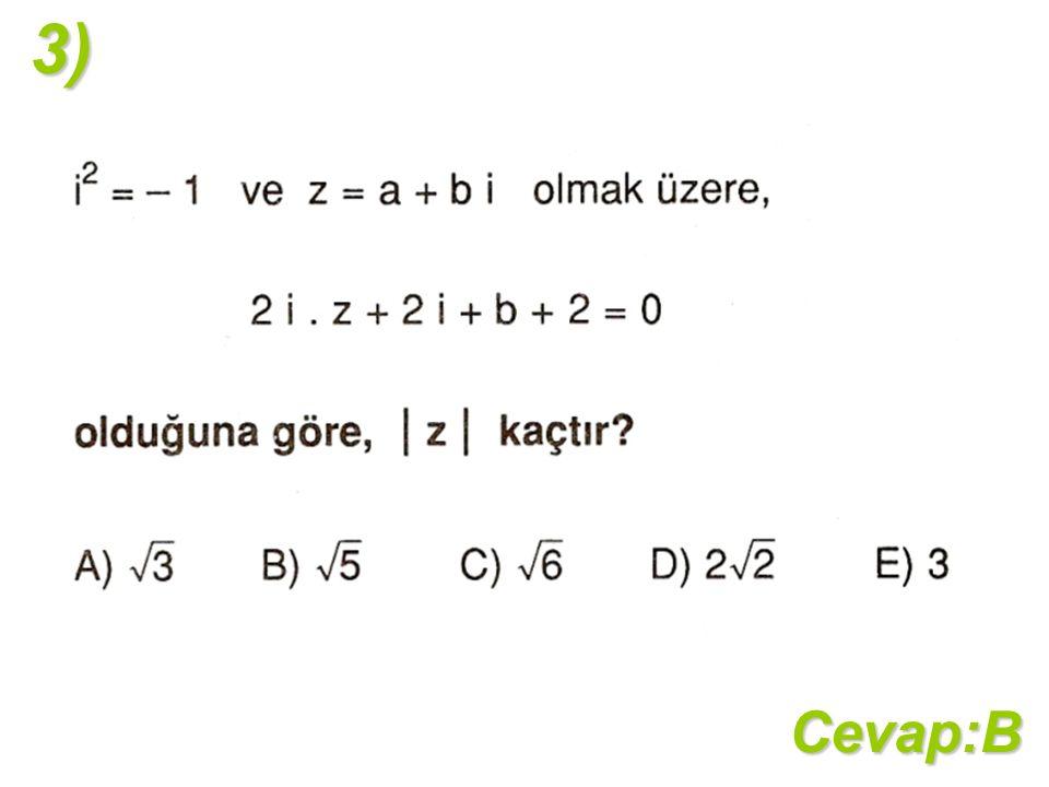Cevap:B3)