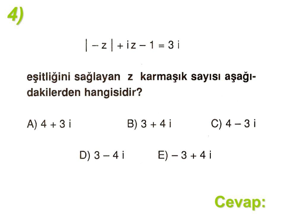 4)Cevap: