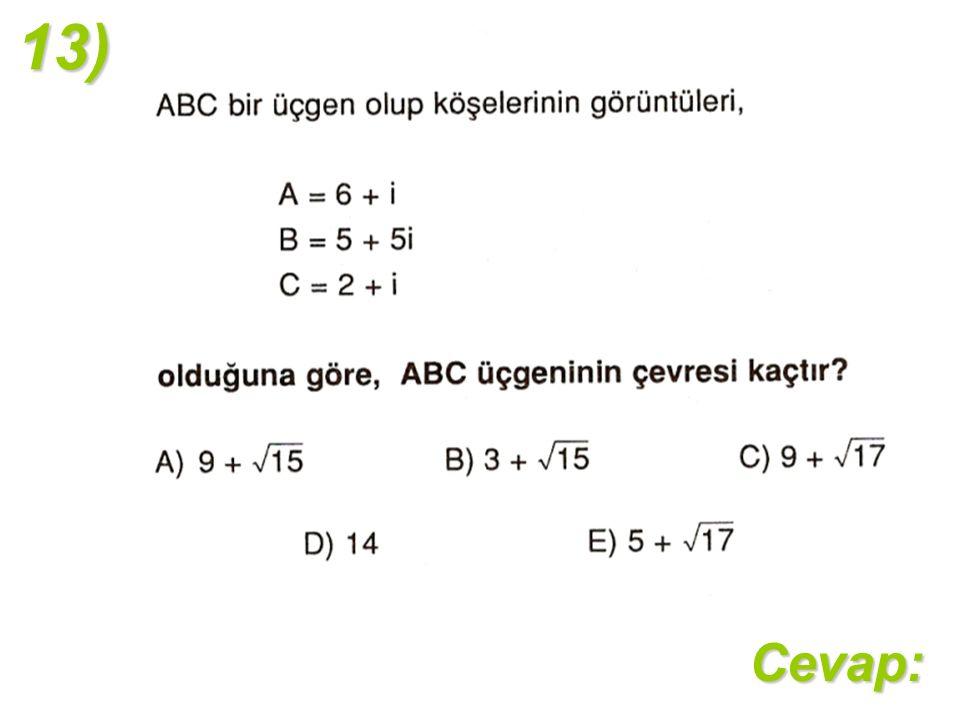 13)Cevap:
