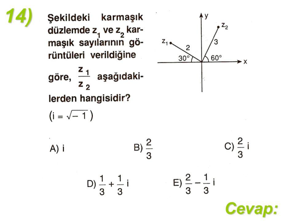 14)Cevap: