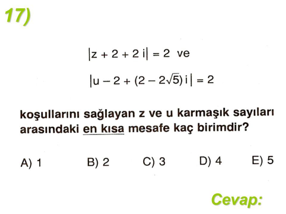 17)Cevap: