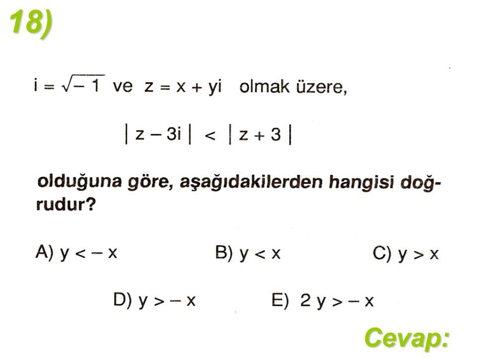 18)Cevap: