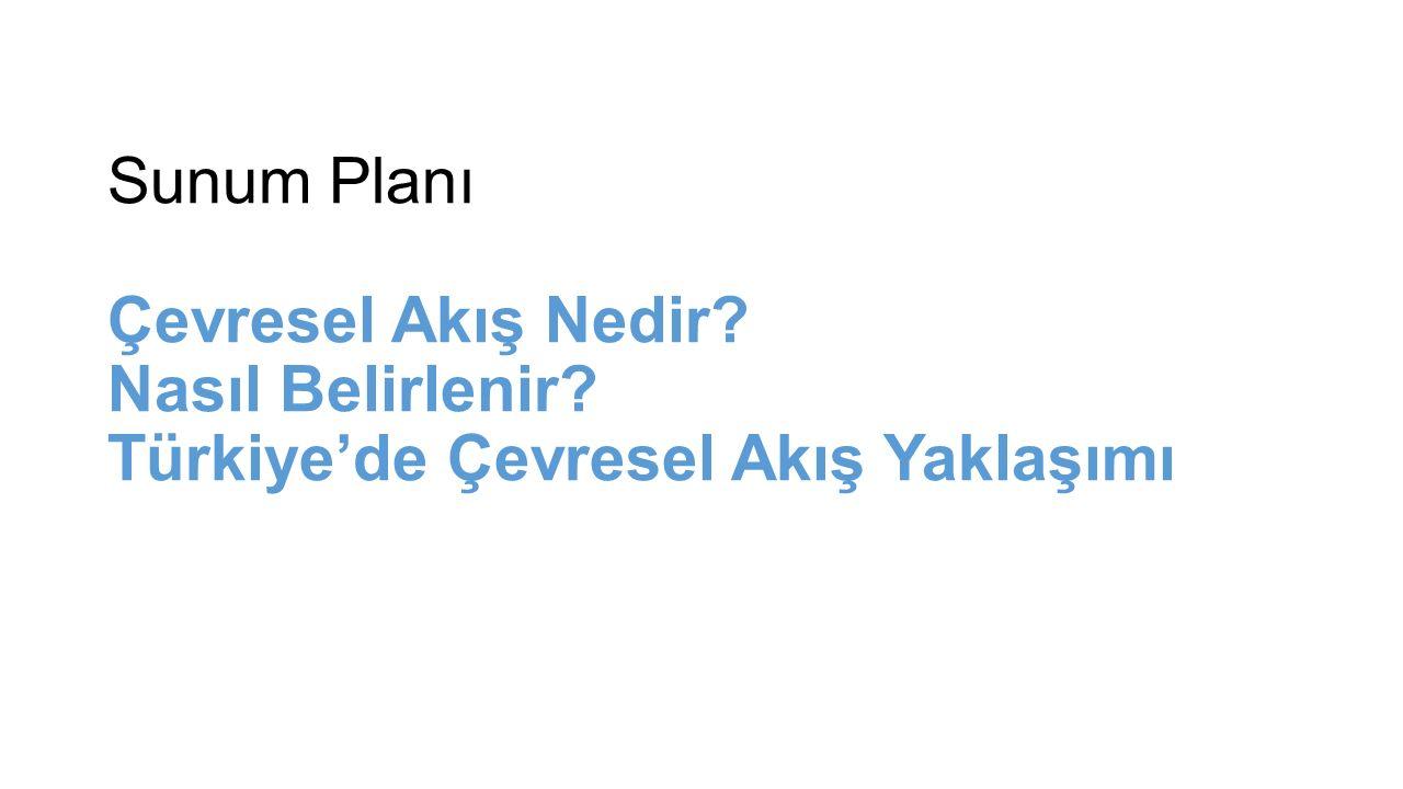 Sunum Planı Çevresel Akış Nedir Nasıl Belirlenir Türkiye'de Çevresel Akış Yaklaşımı