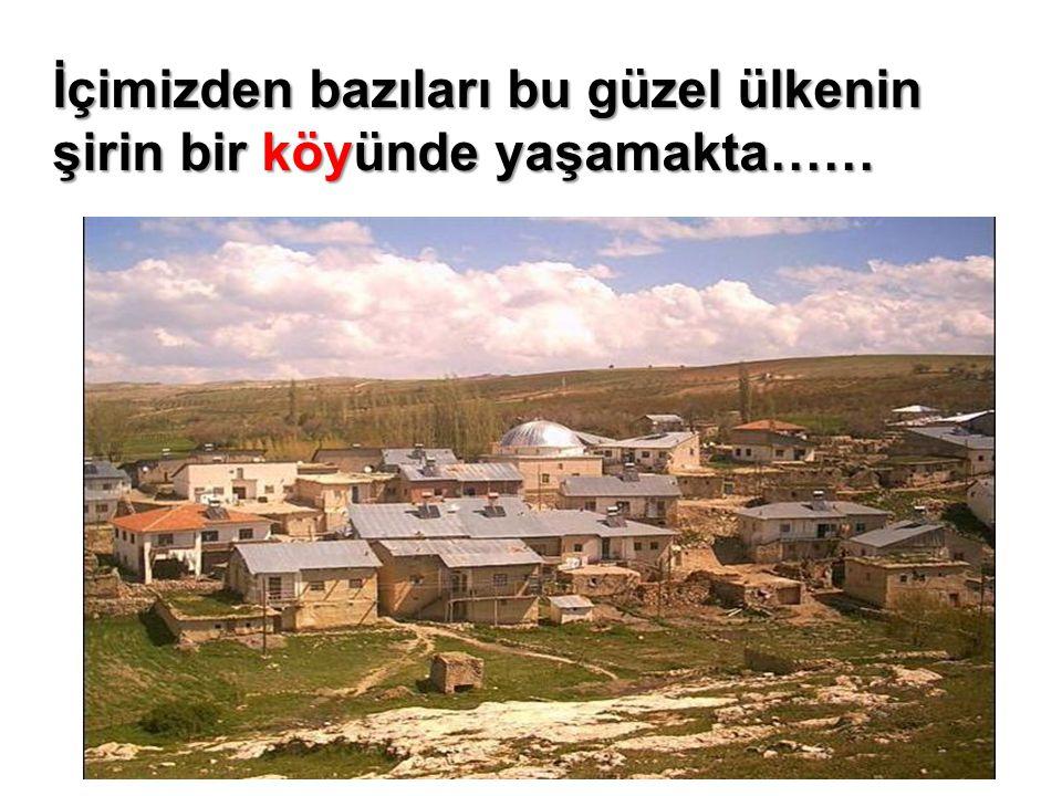 İçimizden bazıları bu güzel ülkenin şirin bir köyünde yaşamakta……