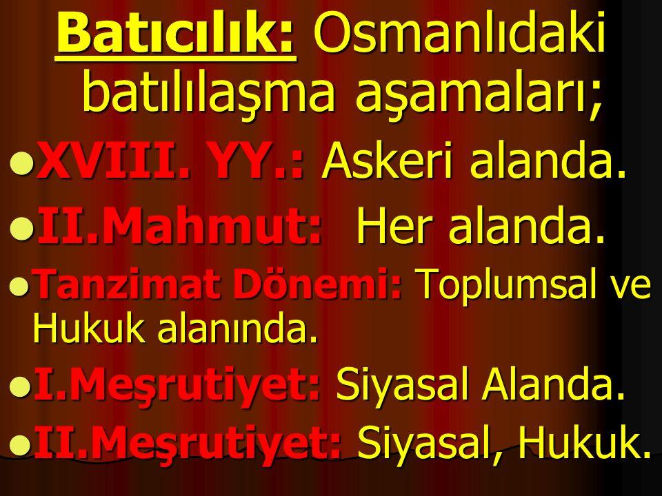NOT: Osmanlı Devletinde ilk isyan eden millet SIRPLAR' DIR.