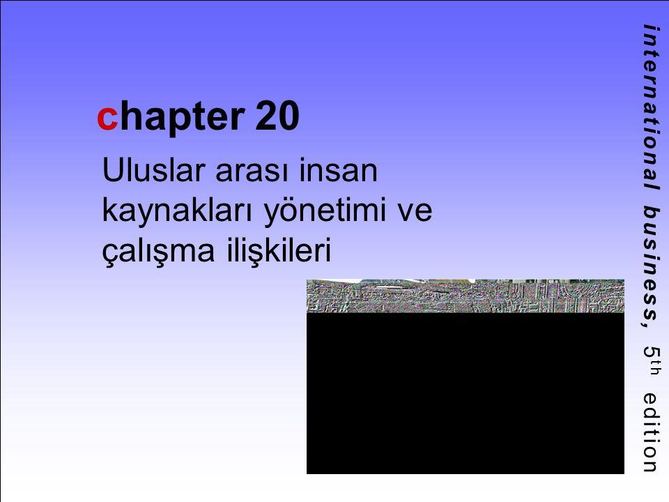 international business, 5 th edition chapter 20 Uluslar arası insan kaynakları yönetimi ve çalışma ilişkileri