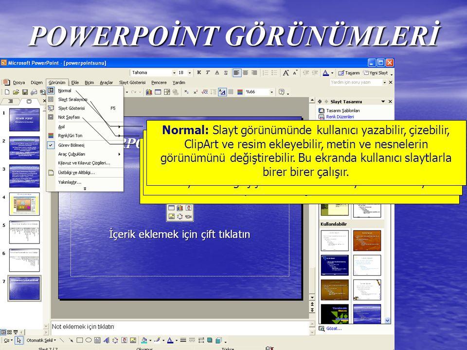 PowerPoint Biçimlendirme Araç Çubuğu