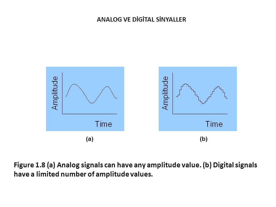 (a)(b) Figure 1.8 (a) Analog signals can have any amplitude value.