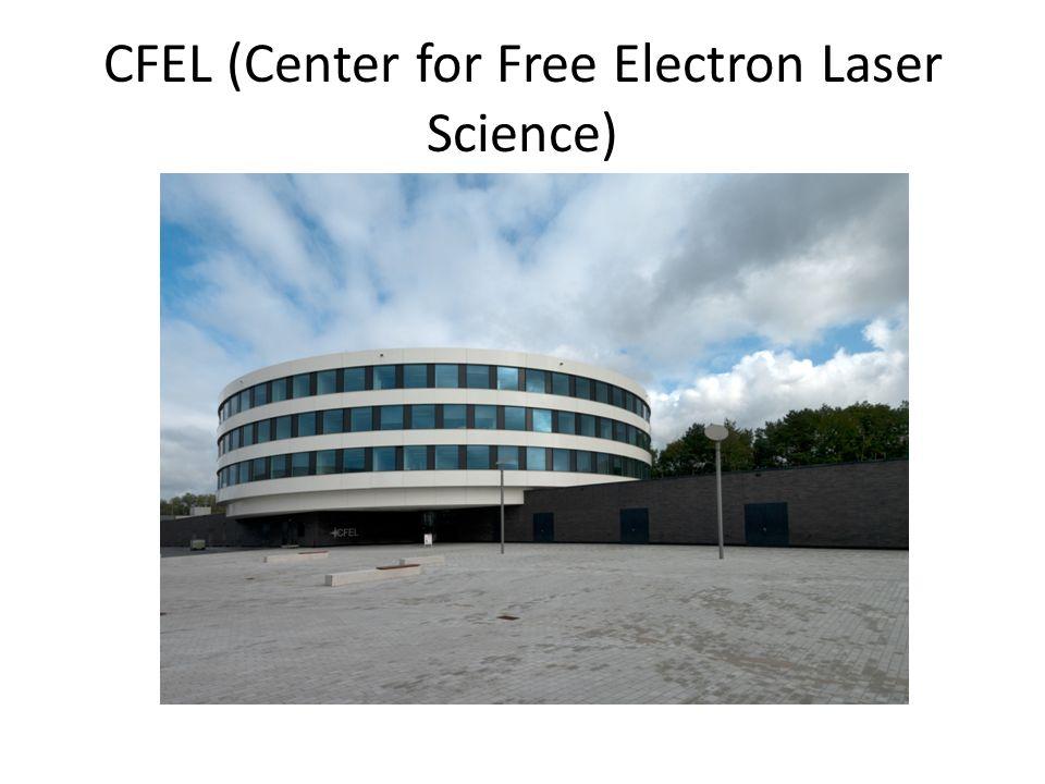 CFEL DESY, Max Planck Enstitüsü ve Hamburg Üniversitesi' nin ortak kurduğu bir tesis Atomların, moleküllerin, yoğun maddelerin ya da biyolojik maddelerin yapılarını femtosaniye mertebelerinde araştırma İki deneysel, bir de teori grubu