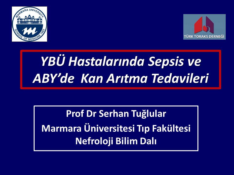 YBÜ Hastalarında Sepsis ve ABY'de Kan Arıtma Tedavileri Prof Dr Serhan Tuğlular Marmara Üniversitesi Tıp Fakültesi Nefroloji Bilim Dalı
