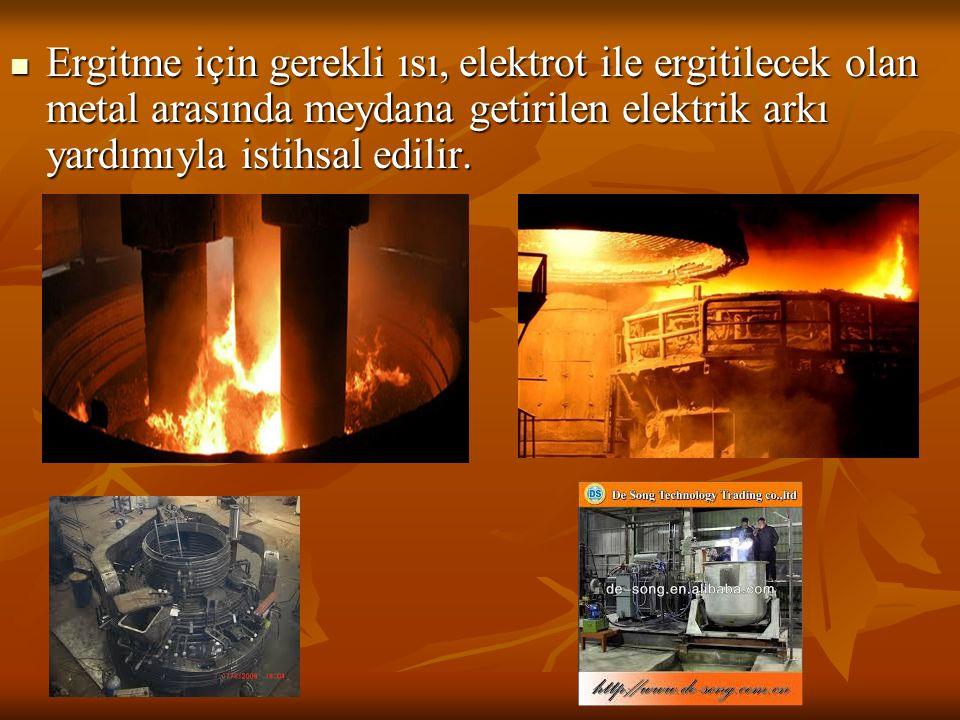 Ergitme için gerekli ısı, elektrot ile ergitilecek olan metal arasında meydana getirilen elektrik arkı yardımıyla istihsal edilir. Ergitme için gerekl