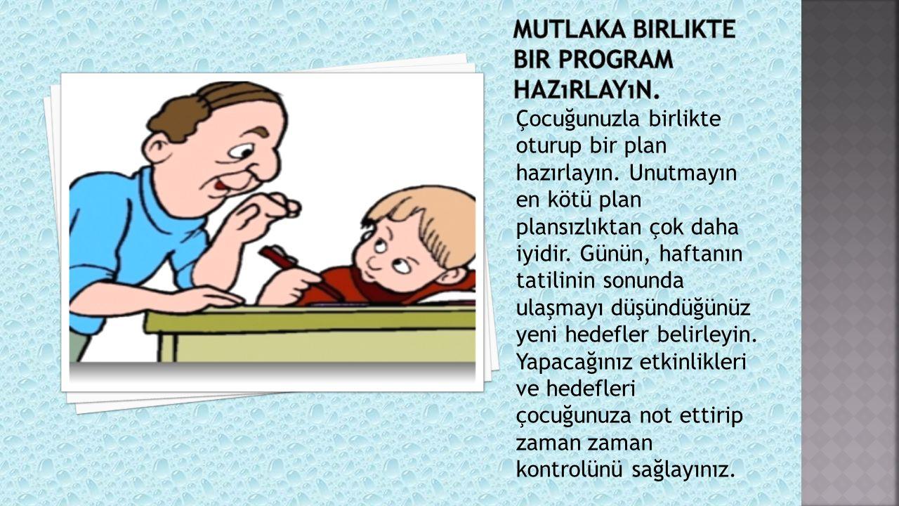Çocuklara yaz programı hazırlanırken; onların çocuk olmak ile ilgili ihtiyaçlarını göz önünde bulundurulmalıdır.