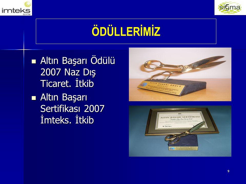 9 Altın Başarı Ödülü 2007 Naz Dış Ticaret. İtkib Altın Başarı Ödülü 2007 Naz Dış Ticaret.