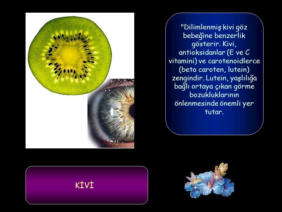 Yaz ve kış aylarında sofraları süsleyen meyve ve sebzelerin şekillerinin faydalı oldukları organlara benzediği bildirildi. Uludağ Üniversitesi Veterin