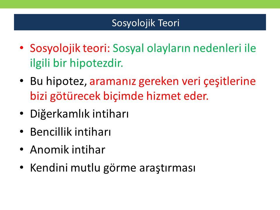 Sosyolojik teori: Sosyal olayların nedenleri ile ilgili bir hipotezdir.