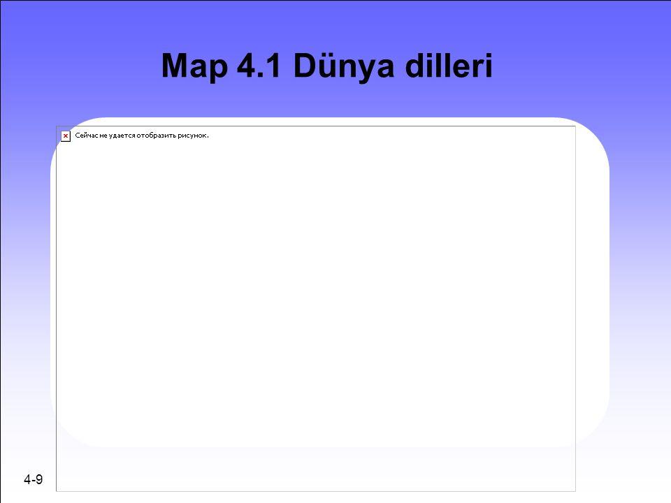 4-9 Map 4.1 Dünya dilleri
