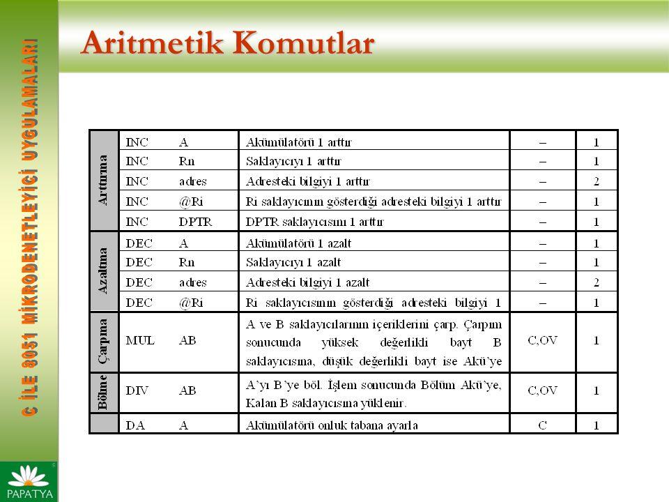 Aritmetik Komutlar