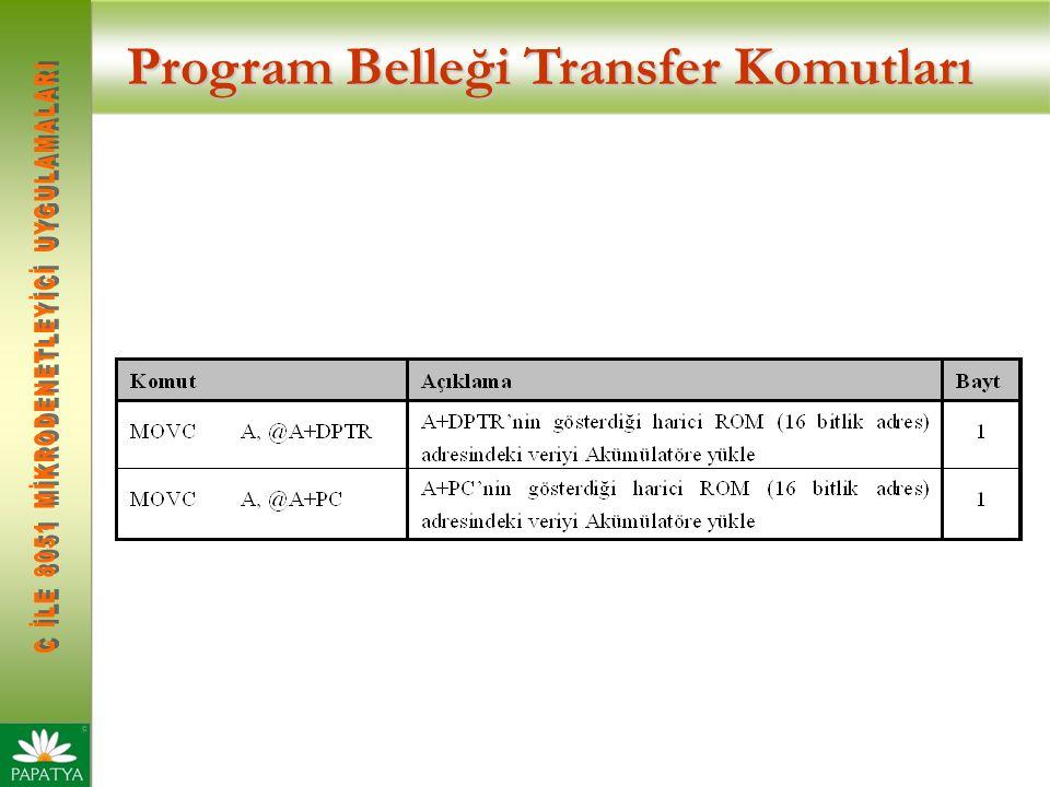 Program Belleği Transfer Komutları