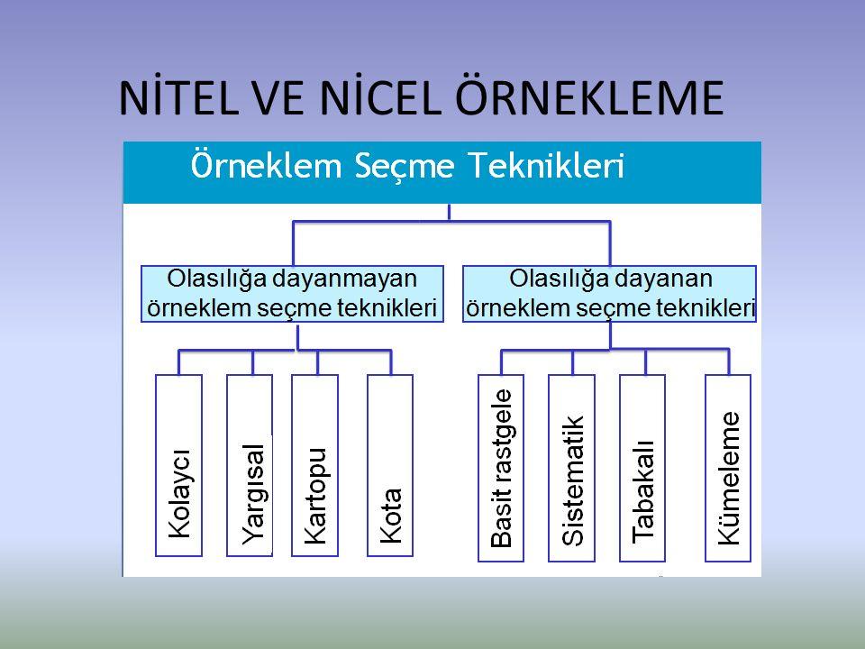 Nitel ve nicel araştırmacıların başlıca amaçları, temsil gücü olan bir örneklemle küçük grubu inceleyerek büyük grup hakkında doğru genellemeler üretmektir.