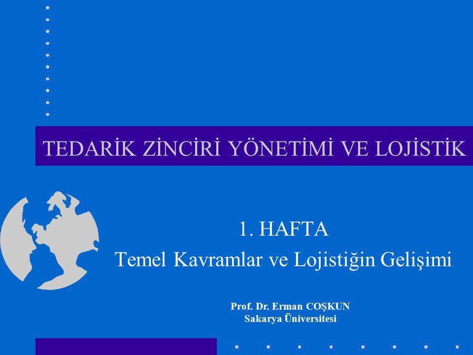 TEDARİK ZİNCİRİ YÖNETİMİ VE LOJİSTİK 1. HAFTA Temel Kavramlar ve Lojistiğin Gelişimi Prof. Dr. Erman COŞKUN Sakarya Üniversitesi
