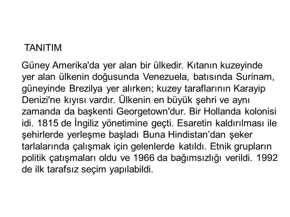 TANITIM Güney Amerika da yer alan bir ülkedir.