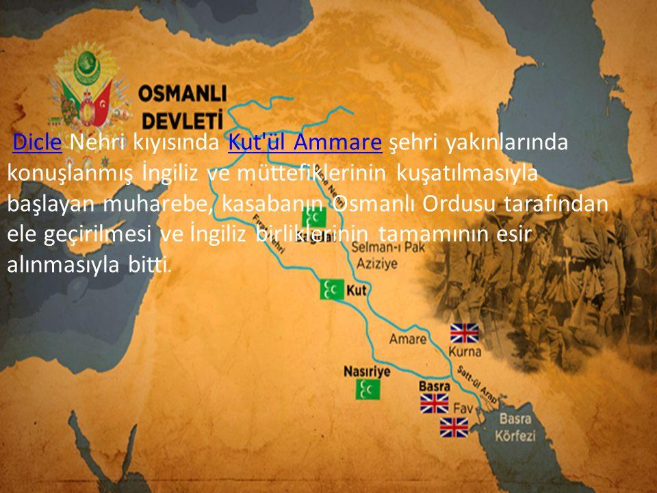 Dicle Nehri kıyısında Kut ül Ammare şehri yakınlarında konuşlanmış İngiliz ve müttefiklerinin kuşatılmasıyla başlayan muharebe, kasabanın Osmanlı Ordusu tarafından ele geçirilmesi ve İngiliz birliklerinin tamamının esir alınmasıyla bitti.