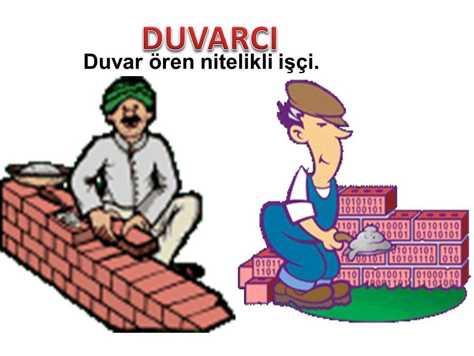 Duvar ören nitelikli işçi.