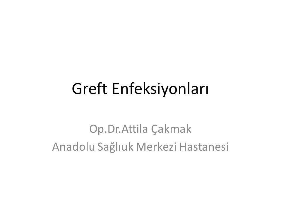 Greft Enfeksiyonları Op.Dr.Attila Çakmak Anadolu Sağlıuk Merkezi Hastanesi