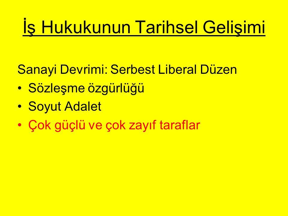 İş Hukukunun Türkiye'deki Tarihsel Gelişimi Ahilik Kurumu Tanzimat ve meşrutiyet hareketleri Mecelle