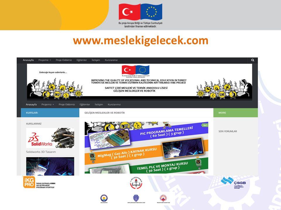www.meslekigelecek.com WEB sayfamız