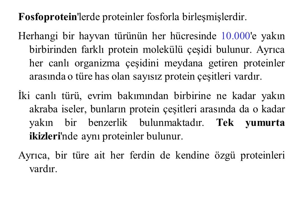 Fosfoprotein lerde proteinler fosforla birleşmişlerdir.
