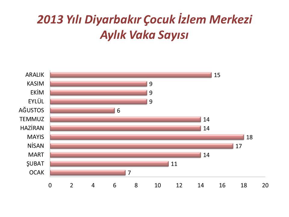 2013 Yılı Diyarbakır Çocuk İzlem Merkezi Aylık Vaka Sayısı