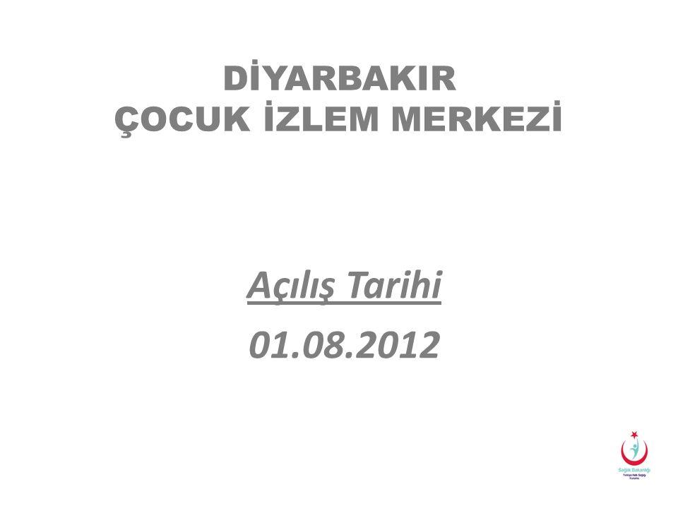 DİYARBAKIR ÇOCUK İZLEM MERKEZİ Açılış Tarihi 01.08.2012