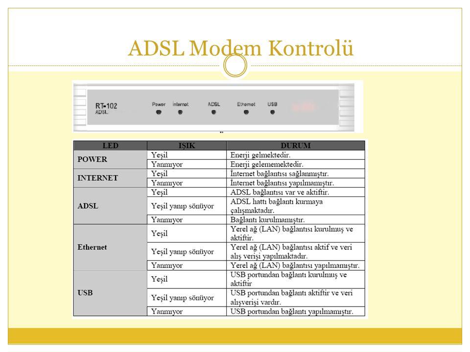 ADSL Modem Kontrolü