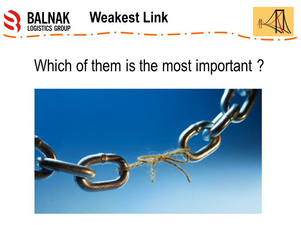 Which of them is the most important Weakest Link