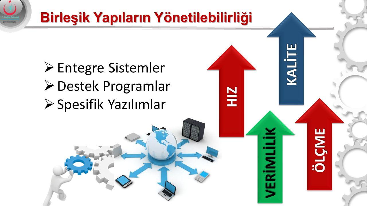 Birleşik Yapıların Yönetilebilirliği  Entegre Sistemler  Destek Programlar  Spesifik Yazılımlar KALİTEKALİTE HIZHIZ VERİMLİLİKVERİMLİLİK ÖLÇMEÖLÇME