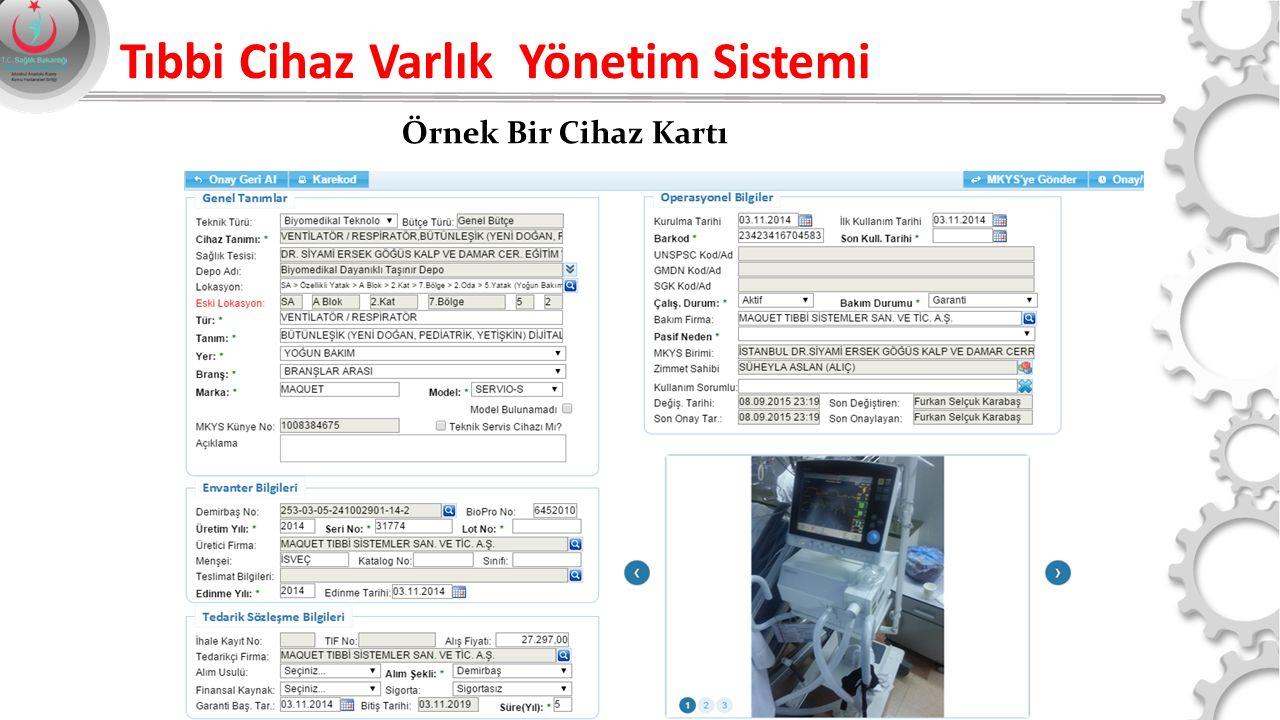 Örnek Bir Cihaz Kartı Tıbbi Cihaz Varlık Yönetim Sistemi