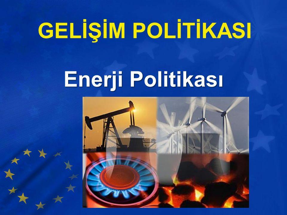 GELİŞİM POLİTİKASI Enerji Politikası