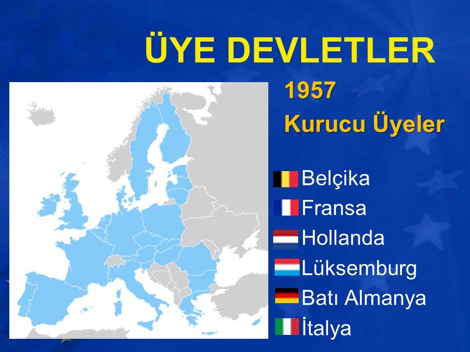 1957 Kurucu Üyeler Belçika Fransa Hollanda Lüksemburg Batı Almanya İtalya