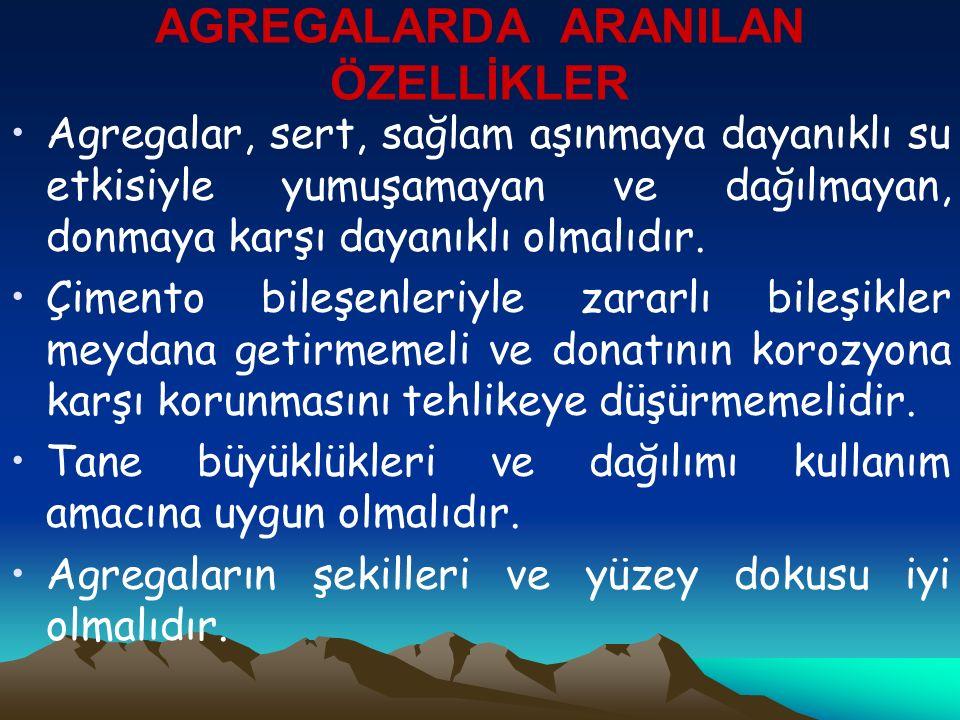 Agregalarda Granülometri (Tane Büyüklüğü Dağılım) Agrega yığınında bulunan tanelerin oranlarının belirlenmesine granülometri denir.