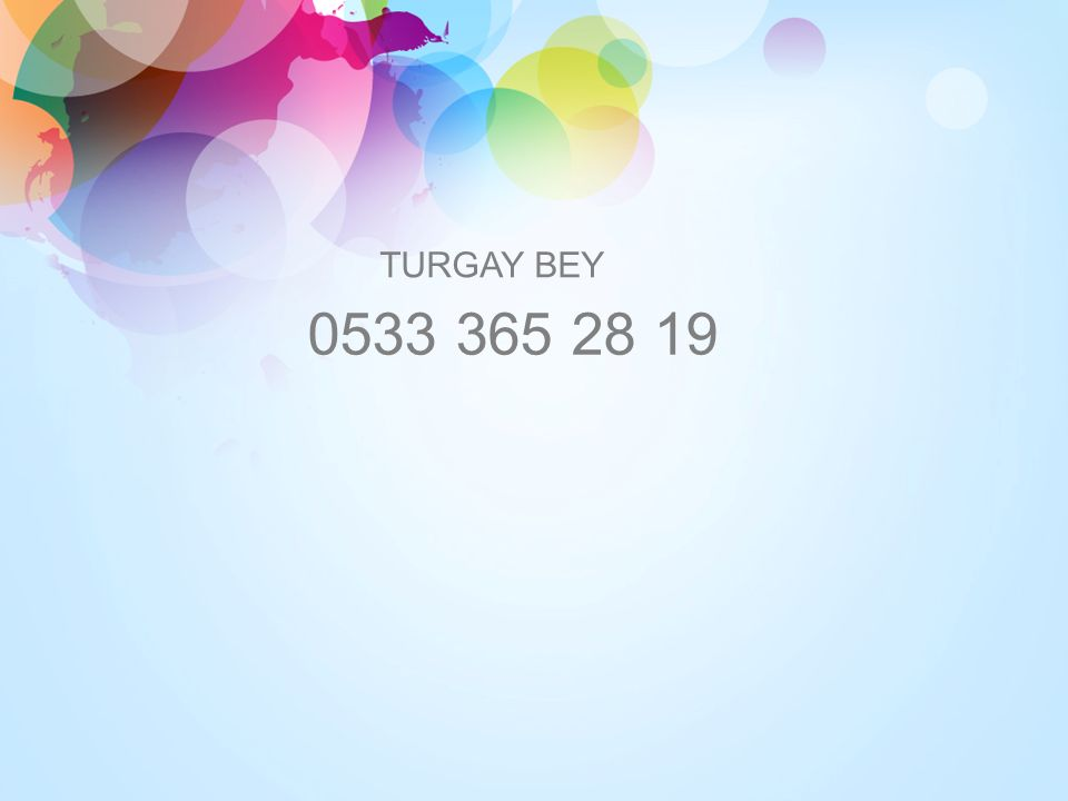 TURGAY BEY 0533 365 28 19
