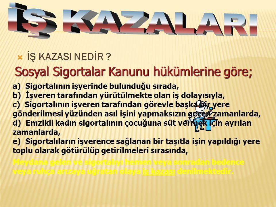  İŞ KAZASI NEDİR .