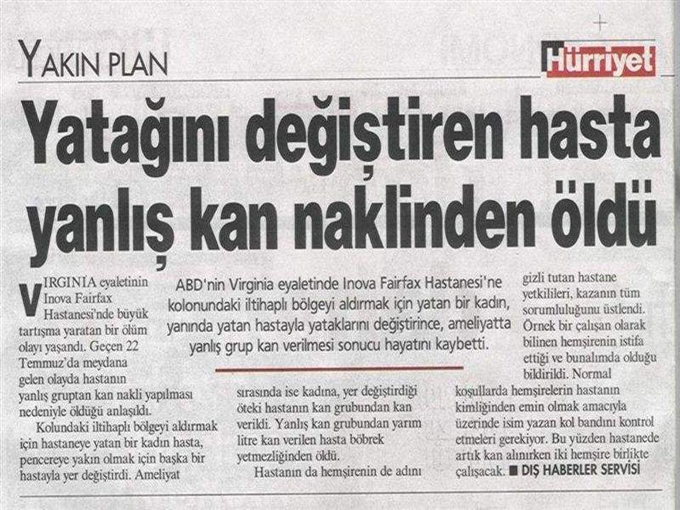 Pardon Yanlış Kan Vermişiz Akdeniz Üniversitesi Tıp Fakültesi Hastanesi Başhekimi Prof.