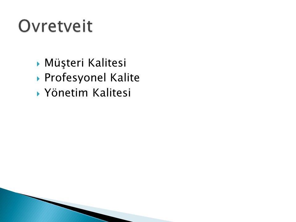  Müşteri Kalitesi  Profesyonel Kalite  Yönetim Kalitesi