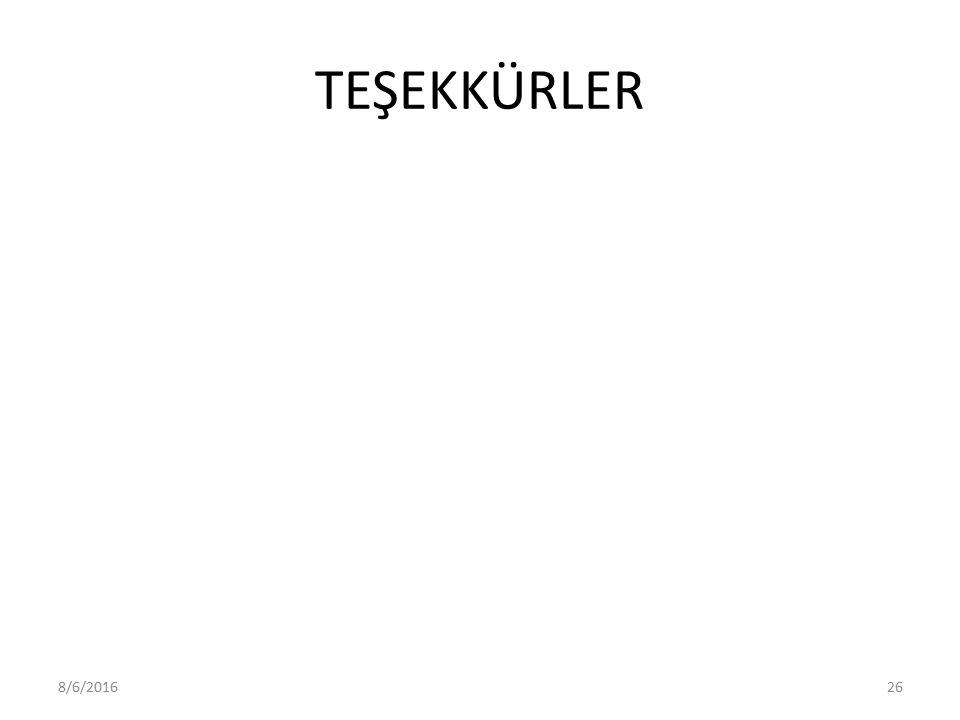 TEŞEKKÜRLER 8/6/201626