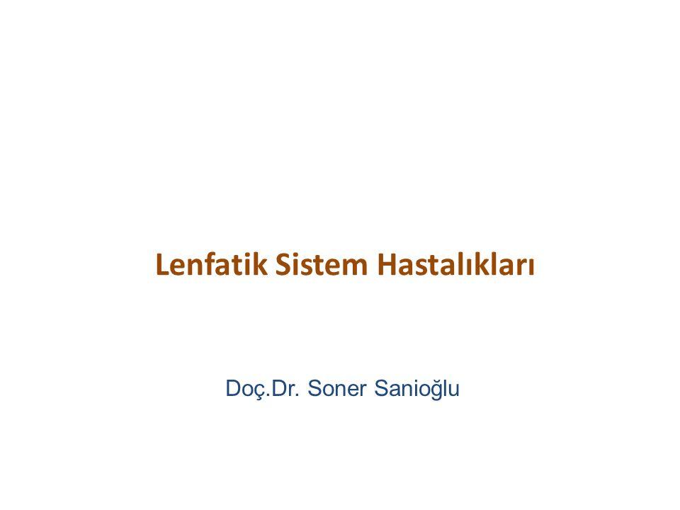 Lenfatik Sistem Hastalıkları Doç.Dr. Soner Sanioğlu